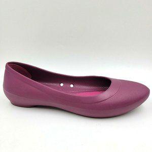 Crocs Lina Purple Mulberry Comfort Slip On Flats 6